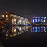 Buy canvas prints of Sheffield Victoria Quays by Angie Morton