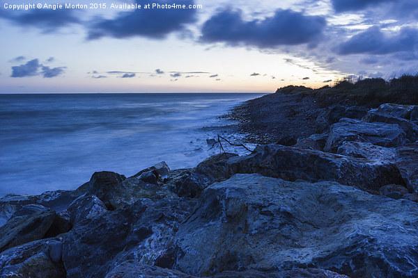 Minehead Dunes at Sunrise Canvas print by Angie Morton