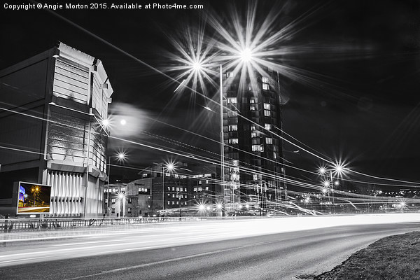 Moore Street Substation at Rush Hour Canvas Print by Angie Morton