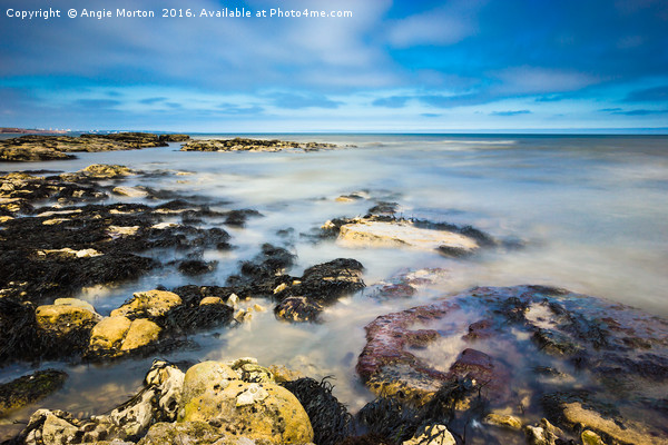 Seaham Seascape Canvas Print by Angie Morton