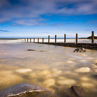 Buy canvas prints of Seaham Beach in Clear Water by Angie Morton