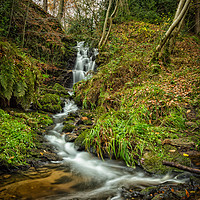 Buy canvas prints of Black Brook Waterfall by Angie Morton
