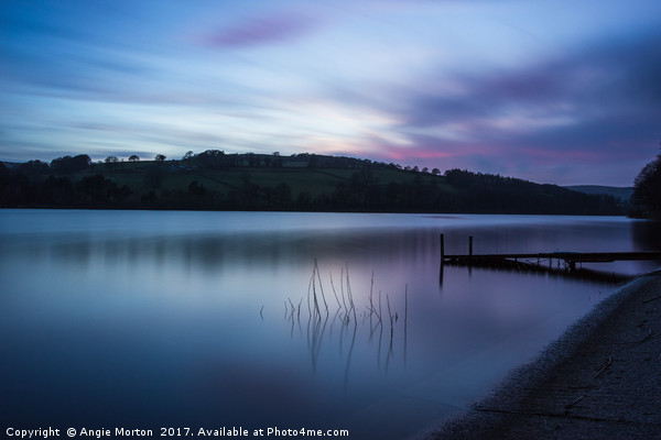 Fading Sunset over Damflask Canvas Print by Angie Morton