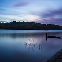 Buy canvas prints of Fading Sunset over Damflask by Angie Morton