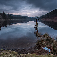 Buy canvas prints of Moody Derwent Sunset by Angie Morton