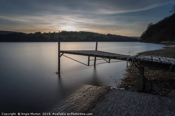 The Boat Jetty Damflask Canvas Print by Angie Morton