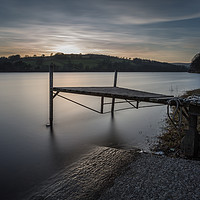Buy canvas prints of The Boat Jetty Damflask by Angie Morton