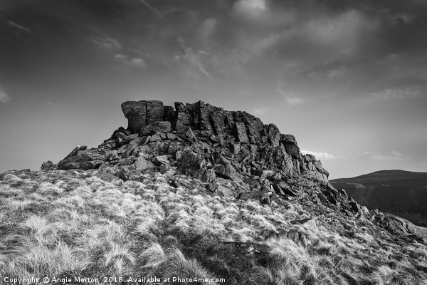 Crook Hill Summit Canvas print by Angie Morton
