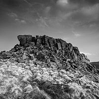 Buy canvas prints of Crook Hill Summit by Angie Morton