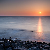Buy canvas prints of Seaham Sunrise by Angie Morton