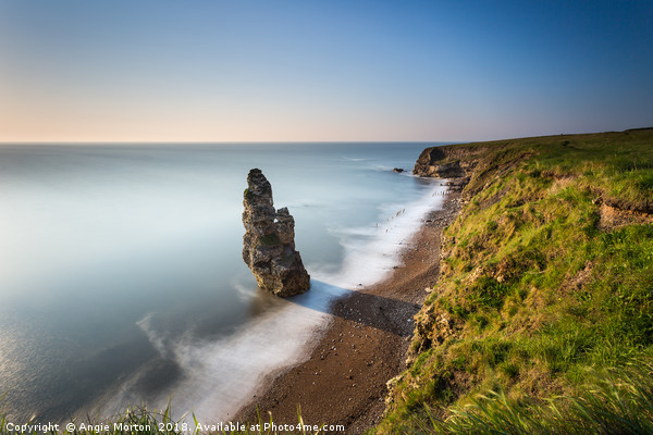 Liddle Stack Seaham v3 Canvas Print by Angie Morton