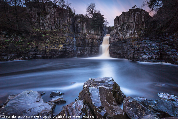 High Force Approaching Sunset Canvas print by Angie Morton