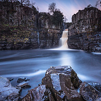 Buy canvas prints of High Force Approaching Sunset by Angie Morton