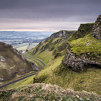 Buy canvas prints of Winnats Pass View by Angie Morton