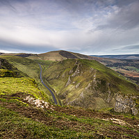 Buy canvas prints of Winnats View to Mam Tor by Angie Morton