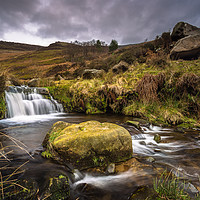 Buy canvas prints of Grinds Brook in Edale by Angie Morton