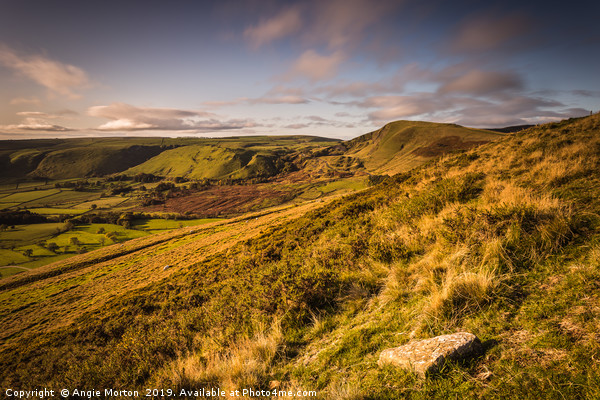 Golden Hour Mam Tor Canvas print by Angie Morton