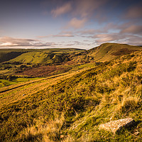 Buy canvas prints of Golden Hour Mam Tor by Angie Morton