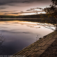 Buy canvas prints of Agden Reservoir Reflections by Angie Morton