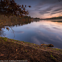 Buy canvas prints of Agden Reflections After Sunset by Angie Morton