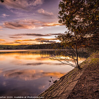 Buy canvas prints of Agden Sunset Reflections by Angie Morton