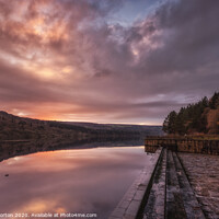Buy canvas prints of Broomhead Reservoir Sunset by Angie Morton