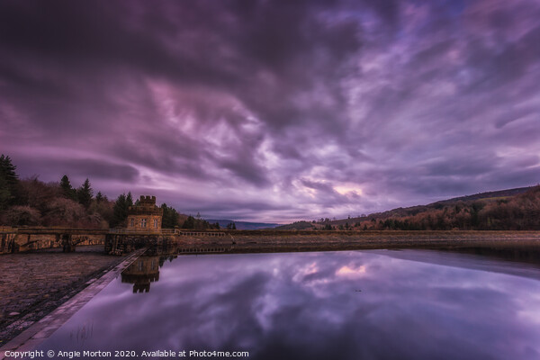 Broomhead Reservoir and Dam Canvas Print by Angie Morton