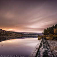 Buy canvas prints of Fading Light at Broomhead Reservoir by Angie Morton