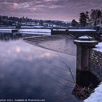 Buy canvas prints of Damflask Reservoir Overflow  by Angie Morton
