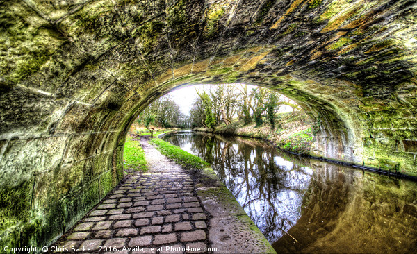 Lancaster canal bridge Trailes Canvas print by Chris Barker