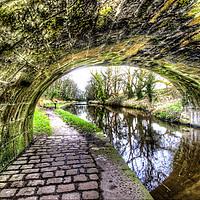 Buy canvas prints of Lancaster canal bridge Trailes by Chris Barker