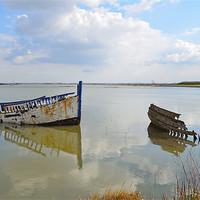 Buy canvas prints of Maldon shipwrecks  by Diana Mower