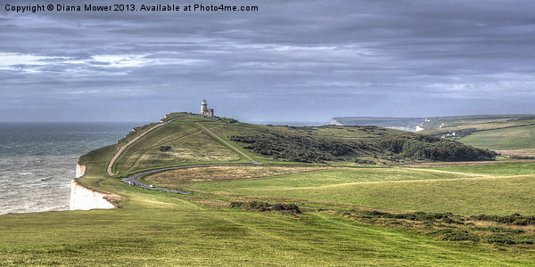 Belle Tout Lighthouse  Canvas Print by Diana Mower