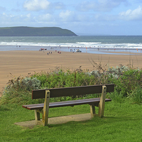 Buy canvas prints of Woolacombe Bay by Diana Mower