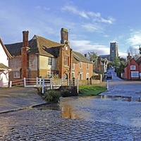 Buy canvas prints of Kersey by Diana Mower