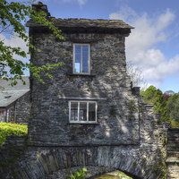 Buy canvas prints of Bridge House Ambleside by Diana Mower