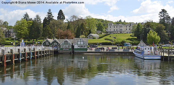 Windermere Canvas print by Diana Mower