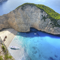 Buy canvas prints of Navagio Beach by Diana Mower