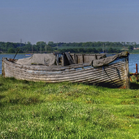 Buy canvas prints of Old Boat by Diana Mower