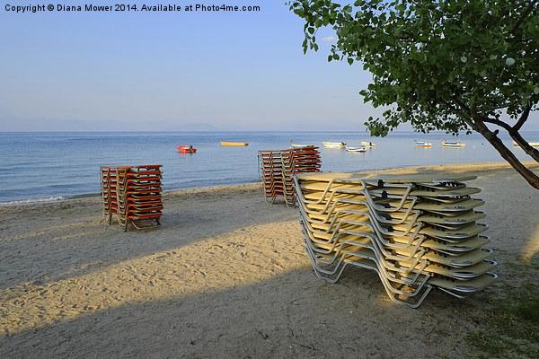 Corfu Beach Canvas print by Diana Mower