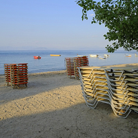 Buy canvas prints of Corfu Beach by Diana Mower