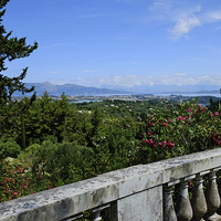 Buy canvas prints of  Achilleion Corfu by Diana Mower