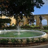 Buy canvas prints of Upper Barrakka Gardens, Valletta. by Diana Mower