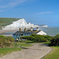 Buy canvas prints of The Seven Sisters  by Diana Mower