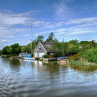 Buy canvas prints of The River Waveney by Diana Mower
