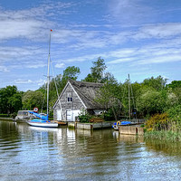 Buy canvas prints of The River Waveney Suffolk by Diana Mower