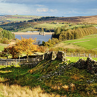Buy canvas prints of Lower Laithe Reservoir Yorkshire Dales by Diana Mower