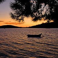 Buy canvas prints of Croatian Sunset by Diana Mower