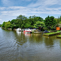 Buy canvas prints of The Picturesque River Waveney   by Diana Mower