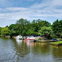 Buy canvas prints of Picturesque River Waveney  by Diana Mower